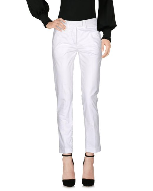 Dondup - White Casual Pants - Lyst
