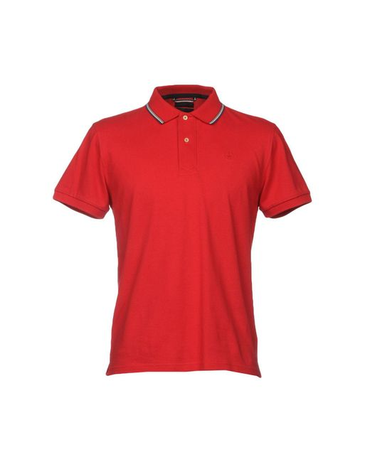 AT.P.CO - Red Polo Shirt for Men - Lyst