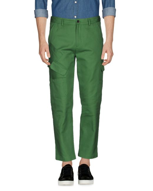 MSGM | Green Casual Pants for Men | Lyst