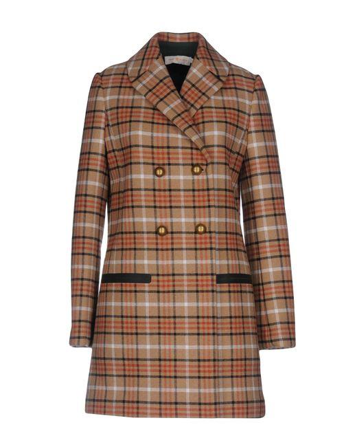 Tory Burch - Brown Coat - Lyst