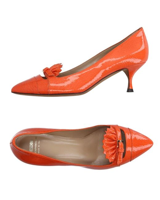 Boutique Moschino - Orange Loafers - Lyst