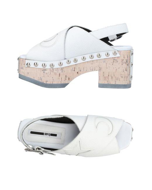 McQ Alexander McQueen - White Sandals - Lyst