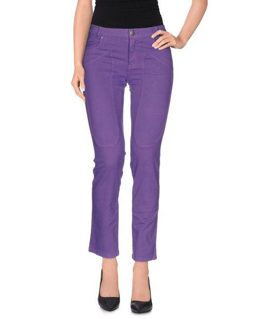 Jeckerson - Purple Casual Trouser - Lyst