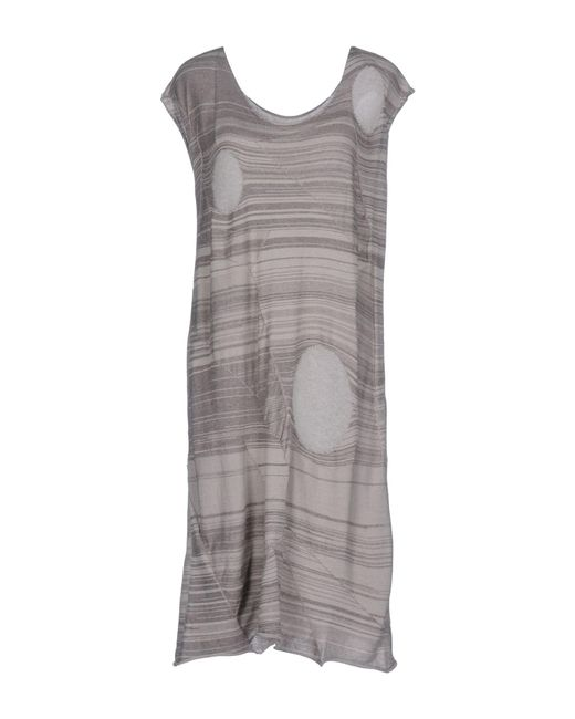Crea Concept - Gray Short Dress - Lyst