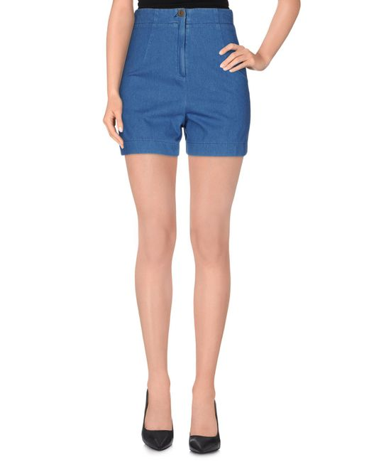 Superfine - Blue Denim Shorts - Lyst