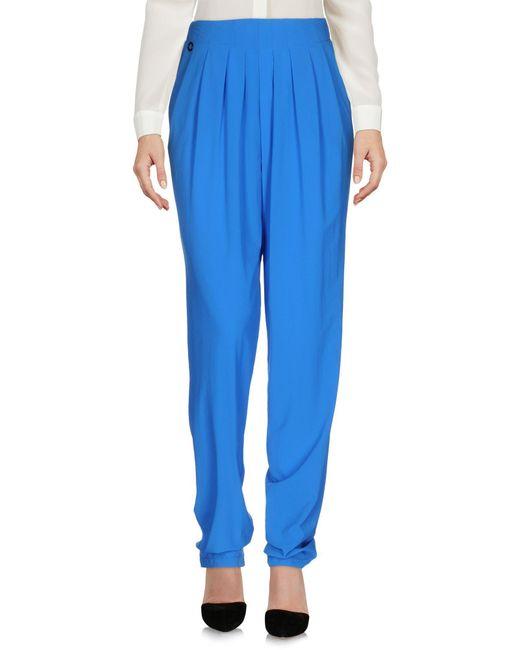 Manila Grace - Blue Casual Trouser - Lyst