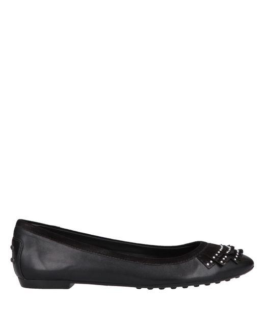 5dcf8b7730 Tod's - Black Ballet Flats - Lyst ...