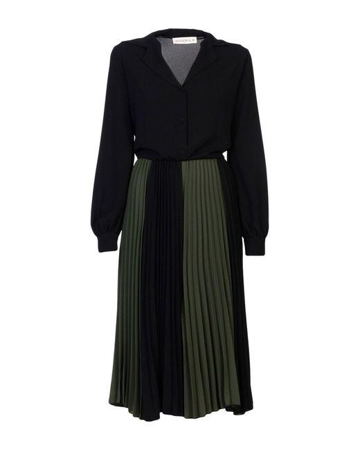 Shirtaporter - Green 3/4 Length Dress - Lyst