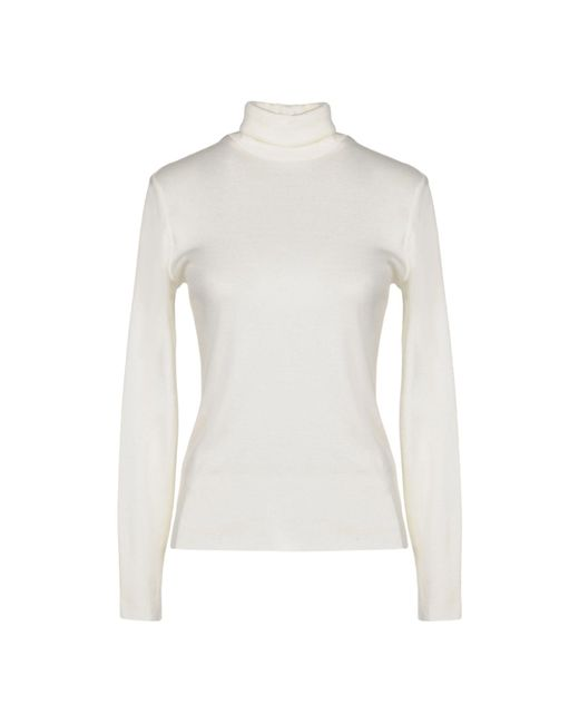 Ralph Lauren Black Label - White Turtlenecks - Lyst