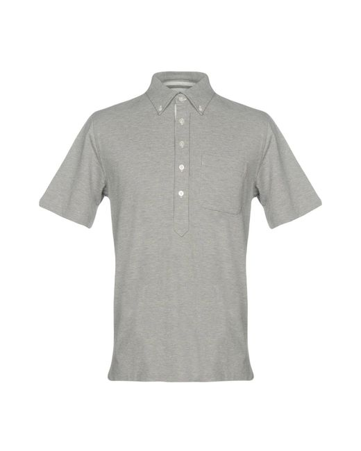 Black Fleece By Brooks Brothers - Gray Polo Shirt for Men - Lyst