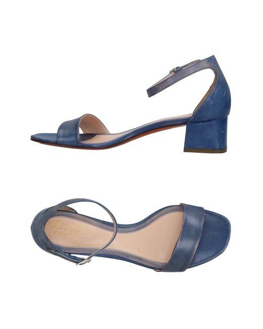 Santoni - Blue Sandals - Lyst