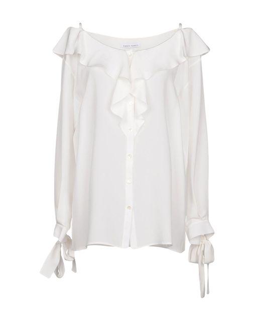 Alberta Ferretti - White Shirt - Lyst