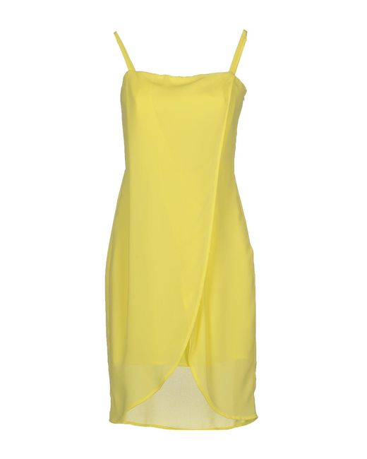 Ki6? Who Are You? - Yellow Short Dresses - Lyst