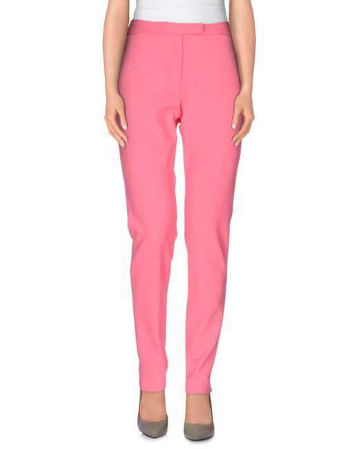 MSGM - Pink Casual Pants - Lyst