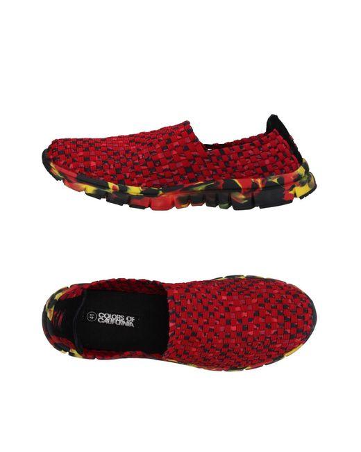 Colors Of California | Red Low-tops & Sneakers for Men | Lyst