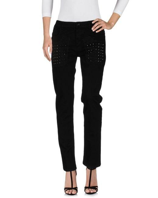 Plein Sud - Black Denim Pants - Lyst