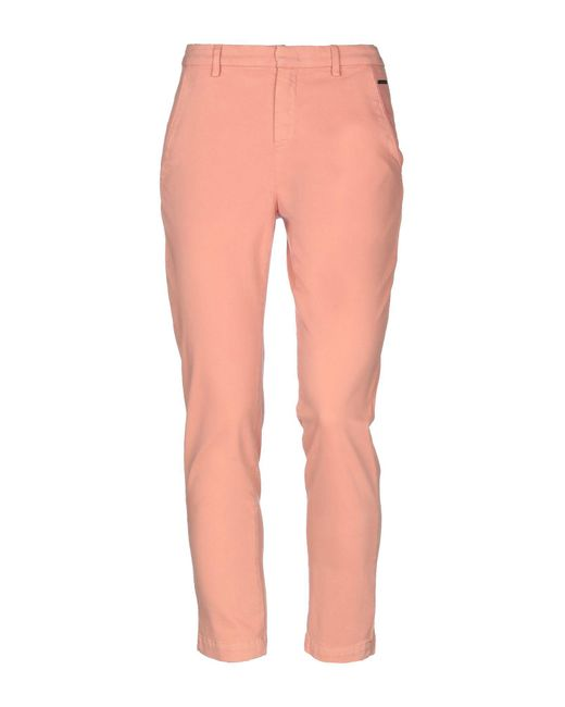 Numph - Pink Casual Trouser - Lyst