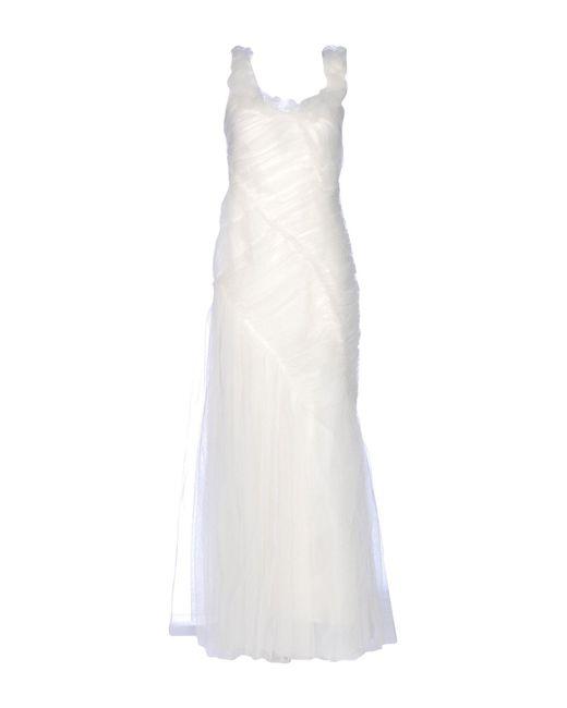 Alberta Ferretti | White Long Dress | Lyst