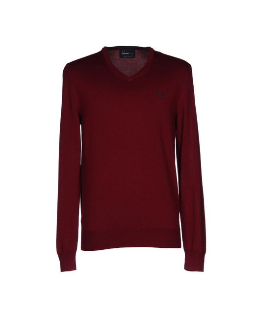 Fred Perry - Red Jumper for Men - Lyst