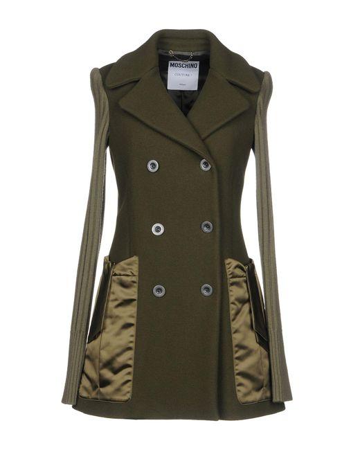 Moschino - Green Coat - Lyst