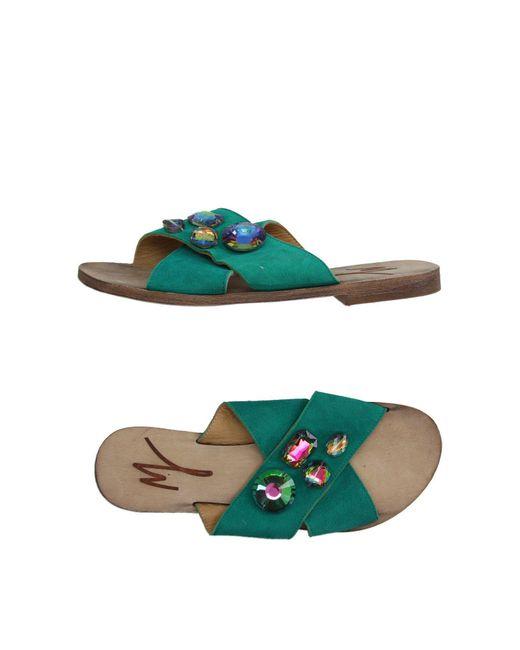 Manila Grace - Green Sandals - Lyst