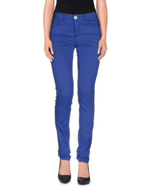 Tru Trussardi   Blue Casual Pants   Lyst