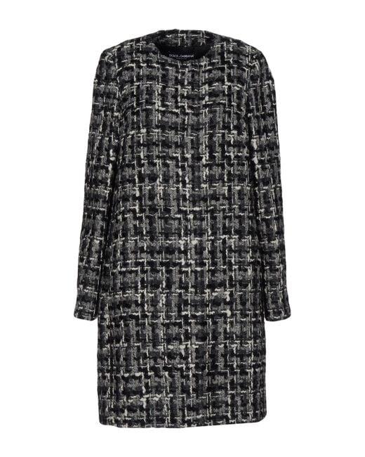 Dolce & Gabbana - Gray Overcoat - Lyst