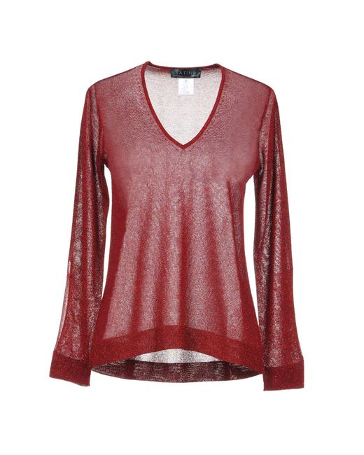 Satine Label Red Sweater