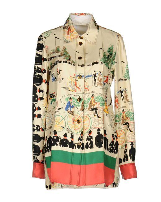 Céline - Natural Shirt - Lyst