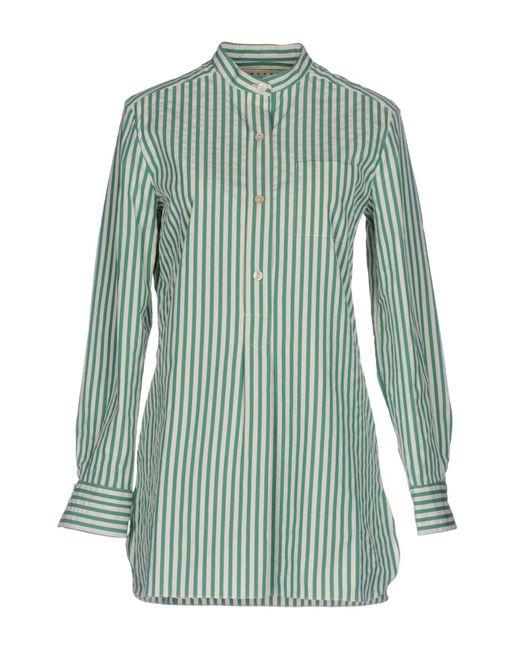 Marni - Green Shirts - Lyst