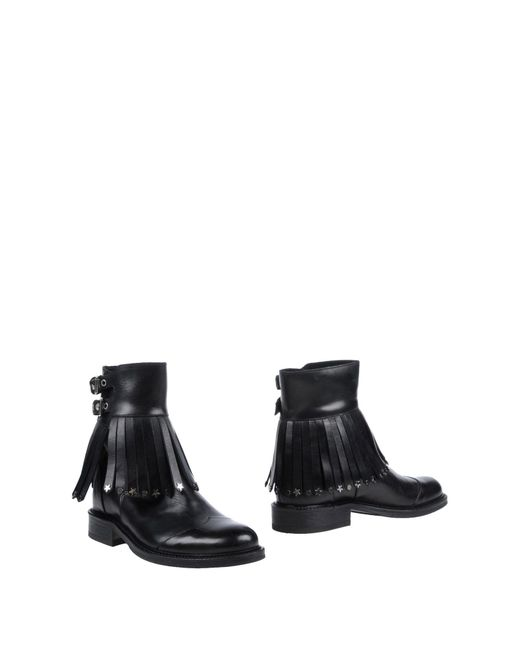 HTC - Black Ankle Boots - Lyst