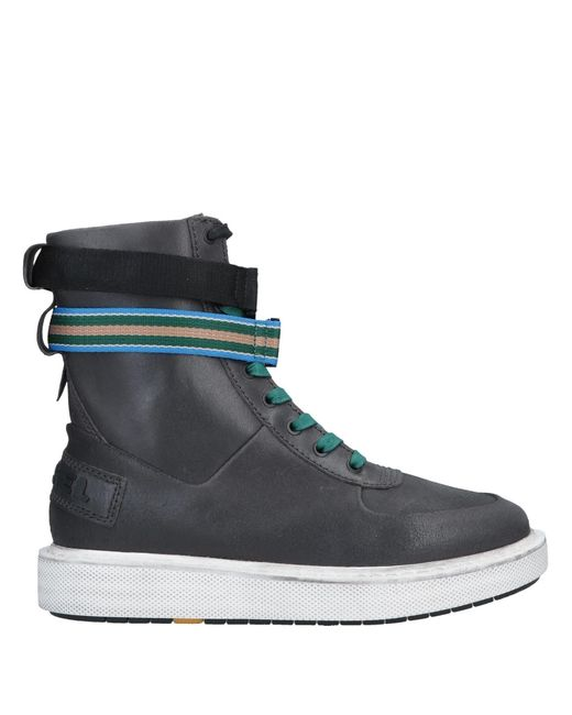 DIESEL Gray Ankle Boots for men