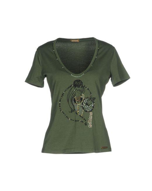 John Galliano - Green T-shirts - Lyst