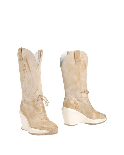 Hogan by Karl Lagerfeld - Natural Boots - Lyst
