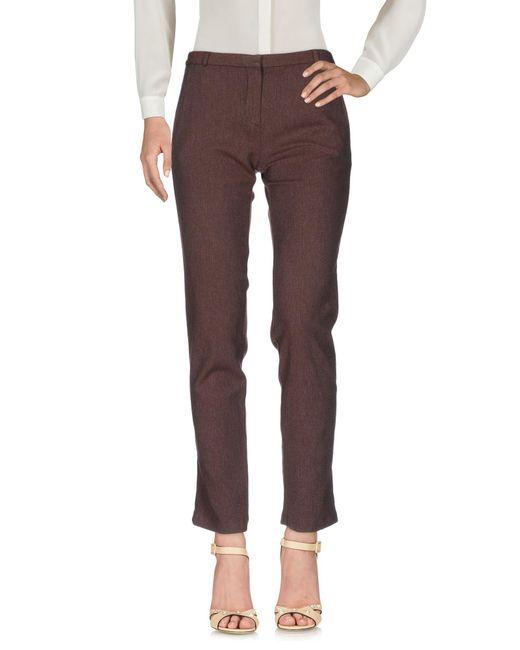 ..,merci - Brown Casual Trouser - Lyst