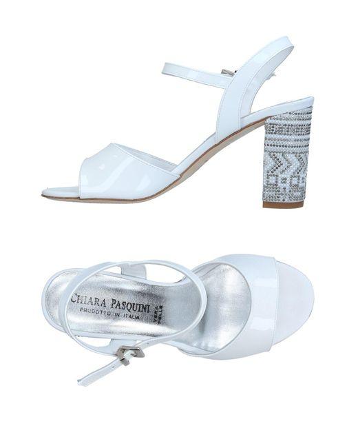 Chiara Pasquini - White Sandals - Lyst