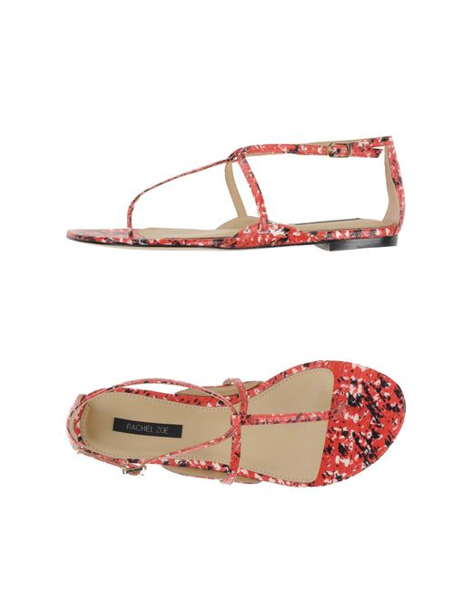 Rachel Zoe - Red Printed Leather Sandals - Lyst