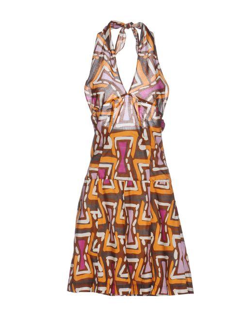 Ra-re - Brown Short Dress - Lyst