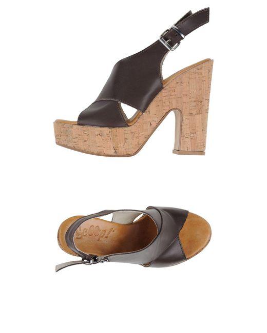 Scoop - Brown Sandals - Lyst