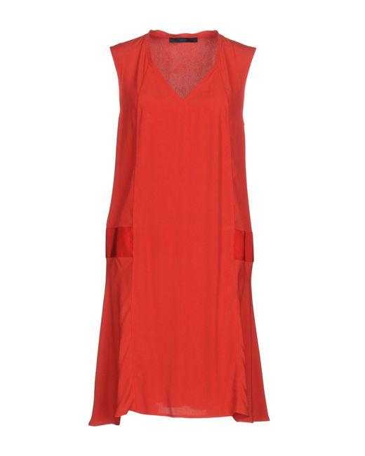 Blue Les Copains - Red Short Dresses - Lyst