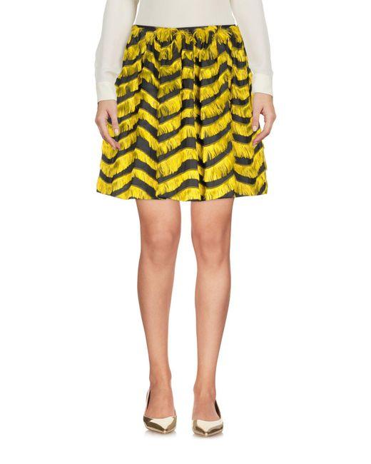 RED Valentino - Yellow Mini Skirts - Lyst
