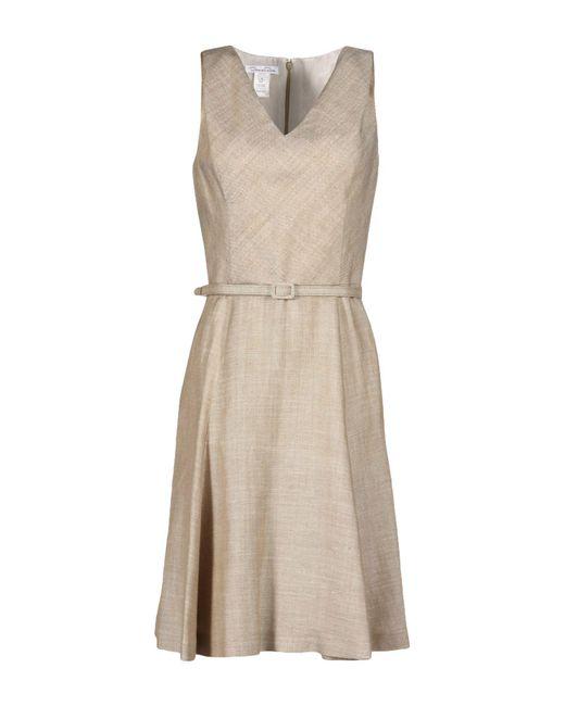 Oscar de la Renta - Gray Knee-length Dress - Lyst