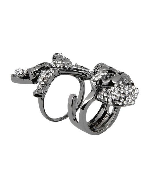 John Richmond - Metallic Ring - Lyst