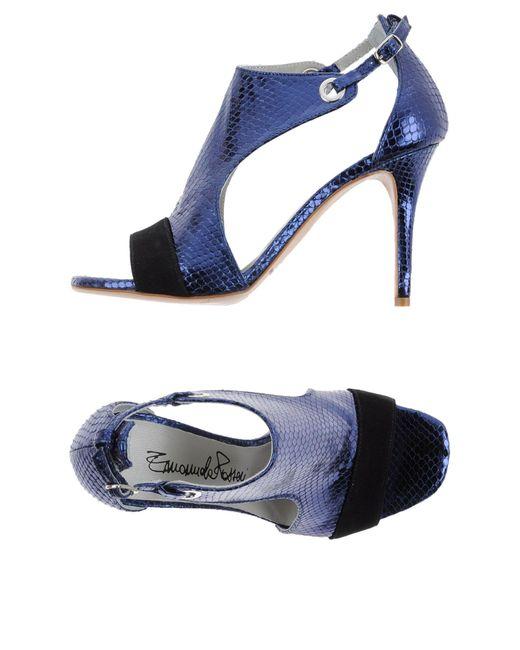 Emanuela Passeri - Blue Sandals - Lyst