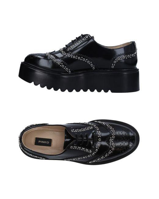 Pinko - Black Lace-up Shoe - Lyst