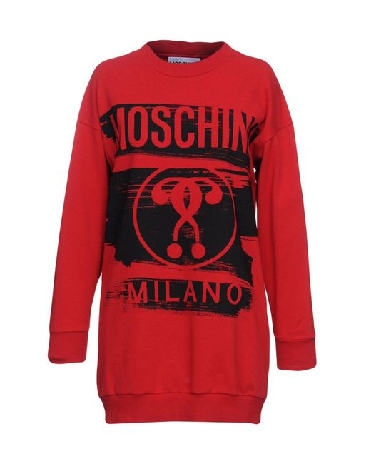 Moschino - Red Sweatshirt - Lyst