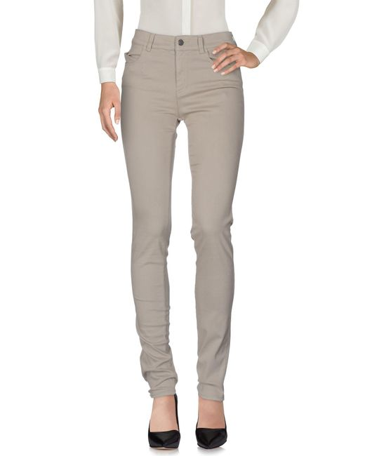 Armani Jeans - Gray Casual Trouser - Lyst