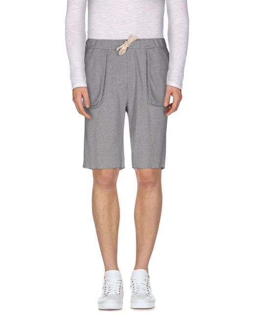 Mauro Grifoni - Gray Bermuda Shorts for Men - Lyst