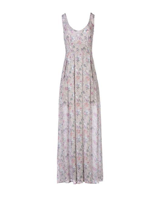 Maison Espin - Gray Long Dress - Lyst