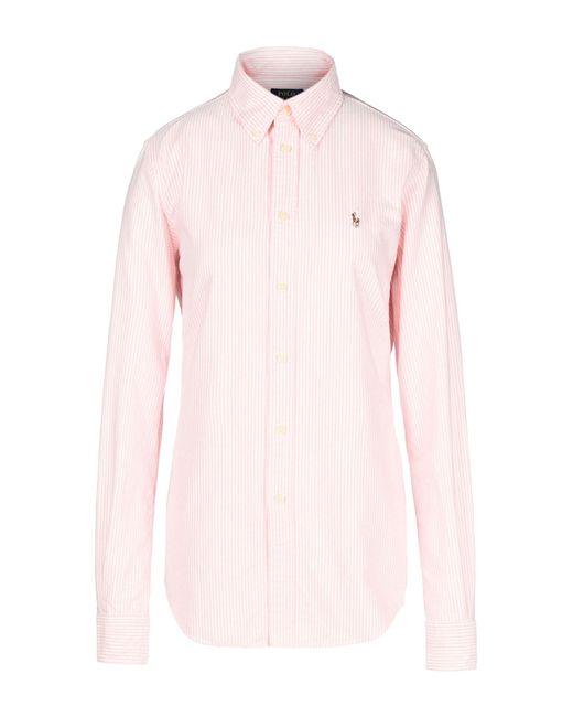 Polo Ralph Lauren - Pink Shirt - Lyst